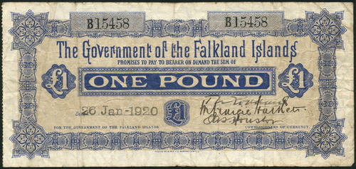 Falkland Islands, £1 1920