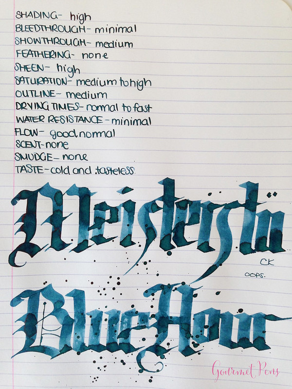 Gourmet Pens Ink Shot Review Montblanc Meisterst 252 Ck Blue