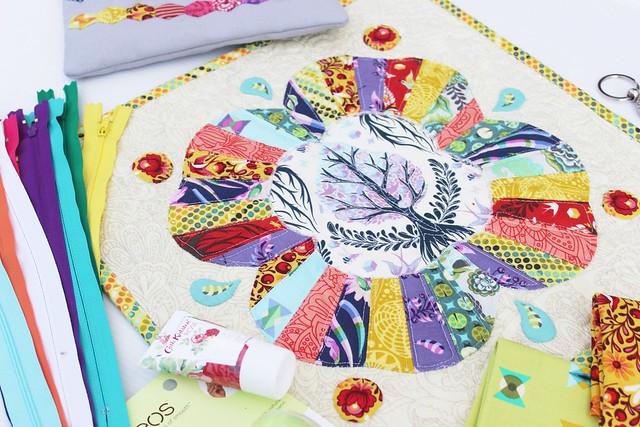 Mini Quilt_Tula Pink Fabrics | littlemushroomcap.com