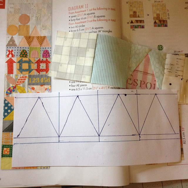 Paper piecing makes the triangles much easier #mysmallworldqal