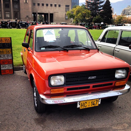 Fiat 147 - Patrimonio sobre ruedas - Día del Patrimonio, Santiago 2015
