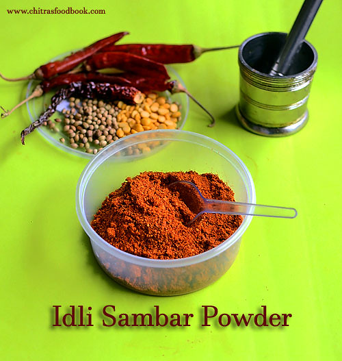 Idli sambar powder recipe