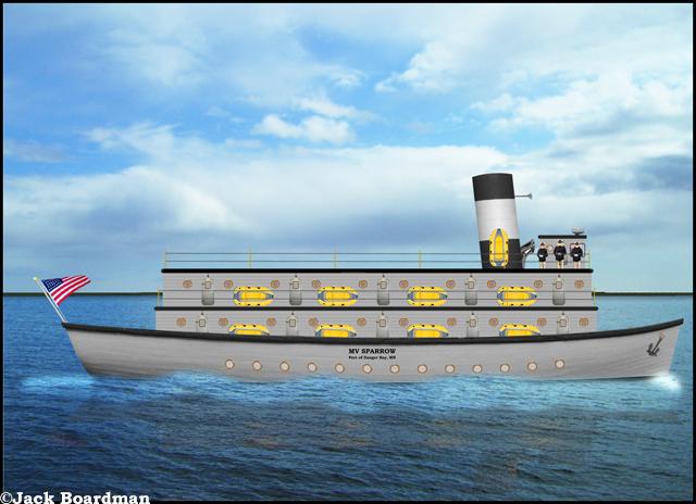Aboard the MV Sparrow ©Jack Boardman