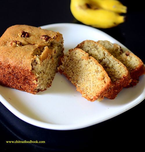 Eggless Banana Cake Recipe No Butter Moist Soft Chitra S Food Book