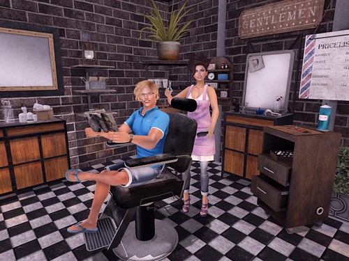 Lolita and Matthew Barber shop