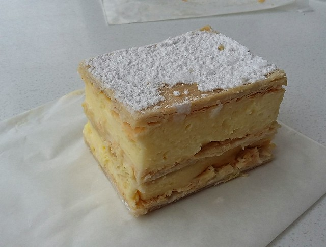 Vanilla slice from Lais French hot bread and cakes.