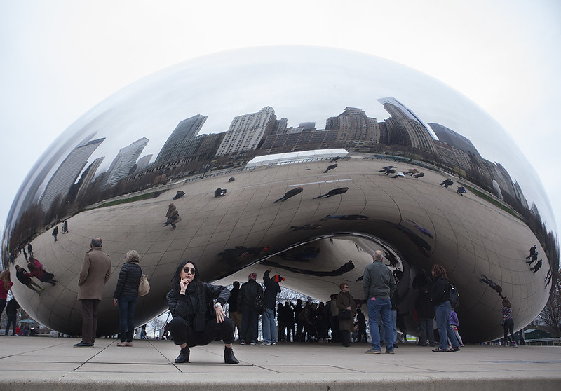 Cloudy Chicago Cloud Gate