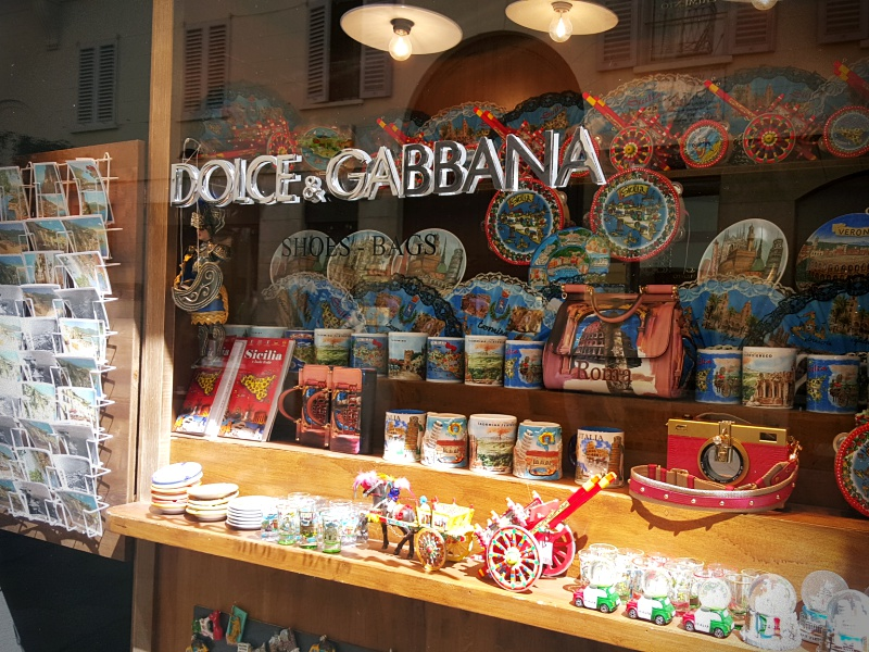 Dolce and Gabbana Milan windows