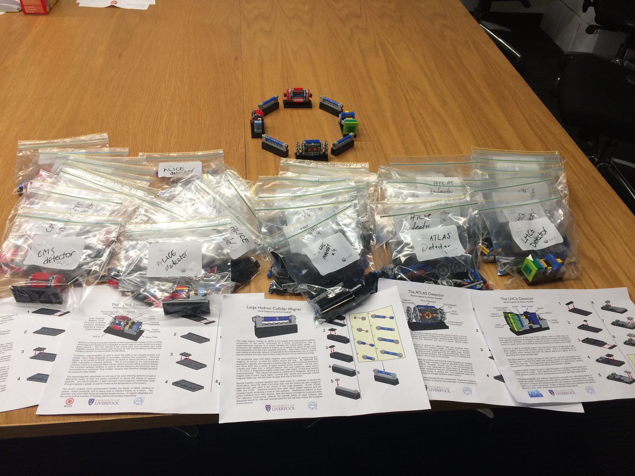 Bags and bags of micro LHC Lego