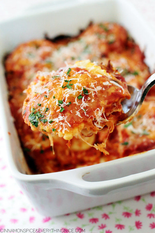 Three Ingredient Ravioli Lasagna