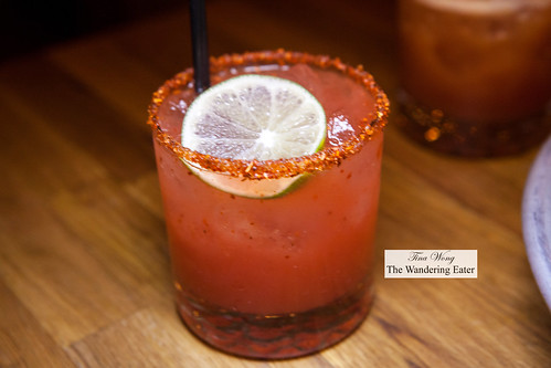Watermelon margarita (made with sake instead of tequila) | by thewanderingeater