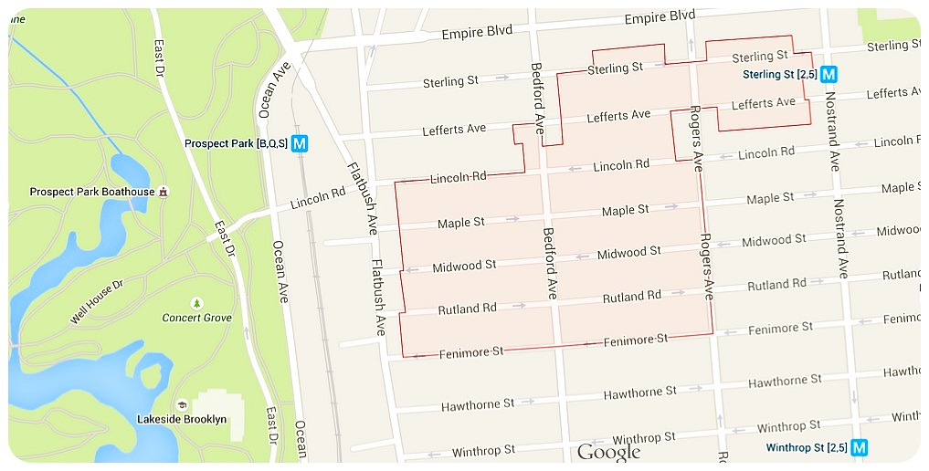 Prospect Lefferts Gardens Map