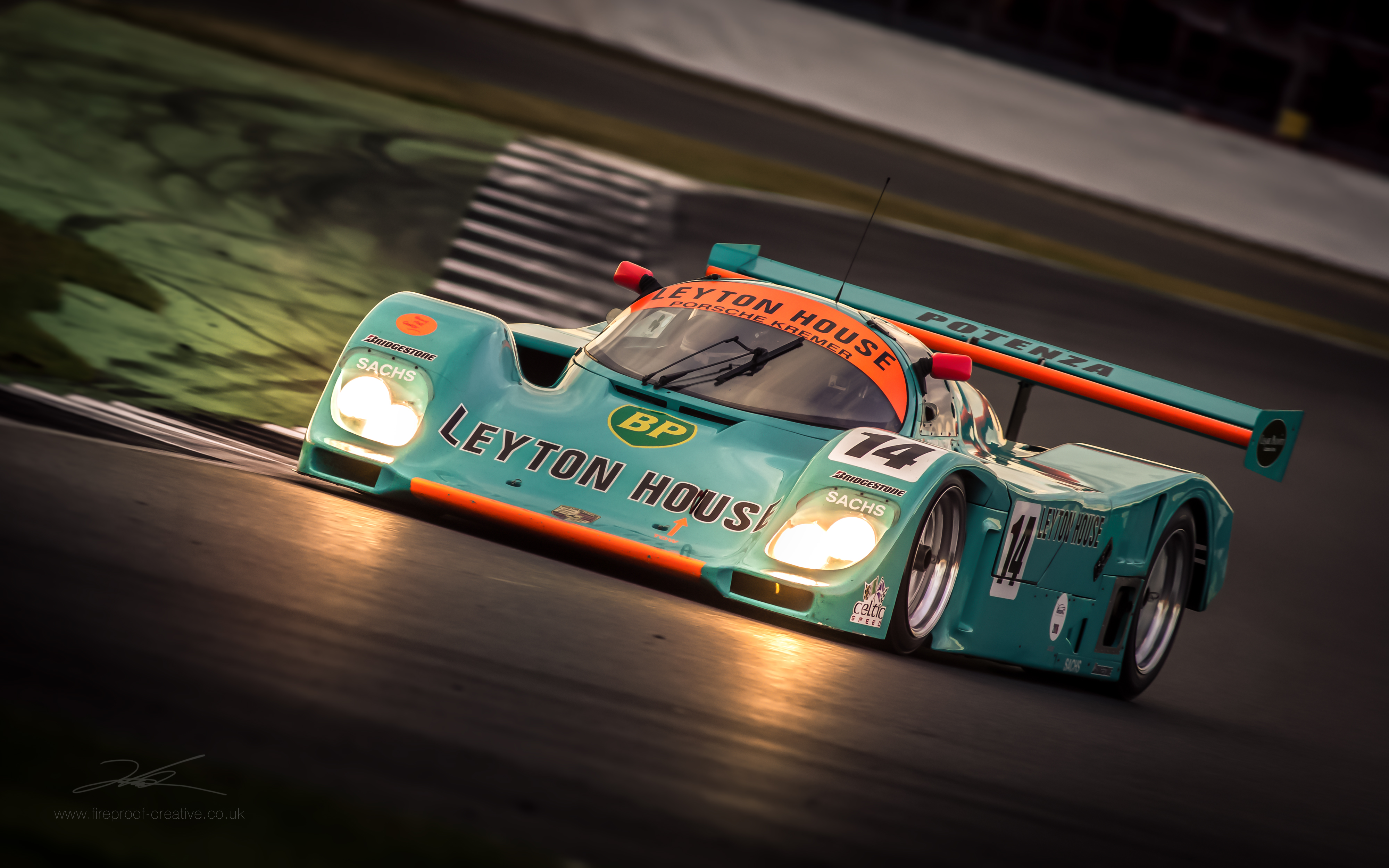 Ot Leyton House Porsche 962 From The Silverstone Classic Wec