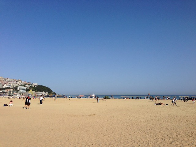 Sunny day at Haeundae Beach