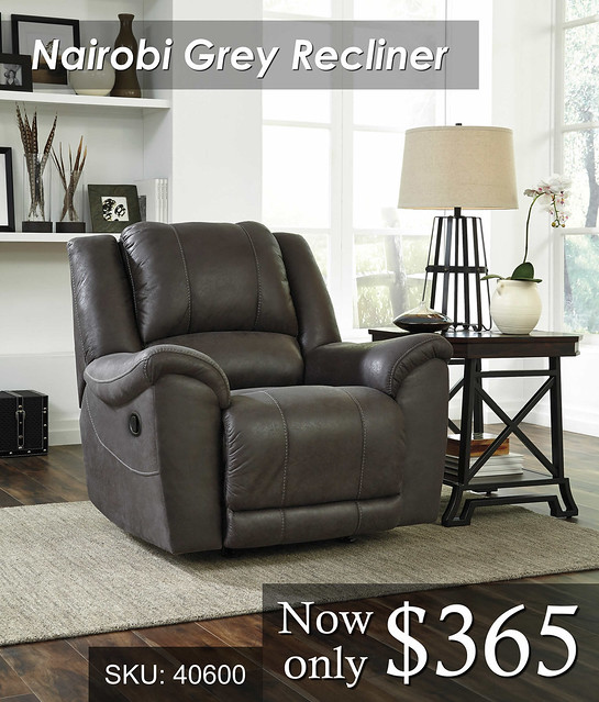 Nairobi Grey Recliner