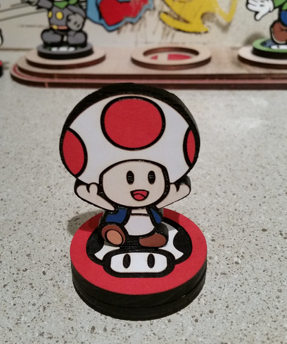 Custom Paper Mario Amiibo by SuperAmiigos - Toad