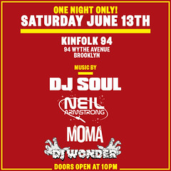 6/13 - Sat - DJ Soul X DJNA X DJ MOMA X DJ Wonder - Gemini Season @ kinfolk 94 BK