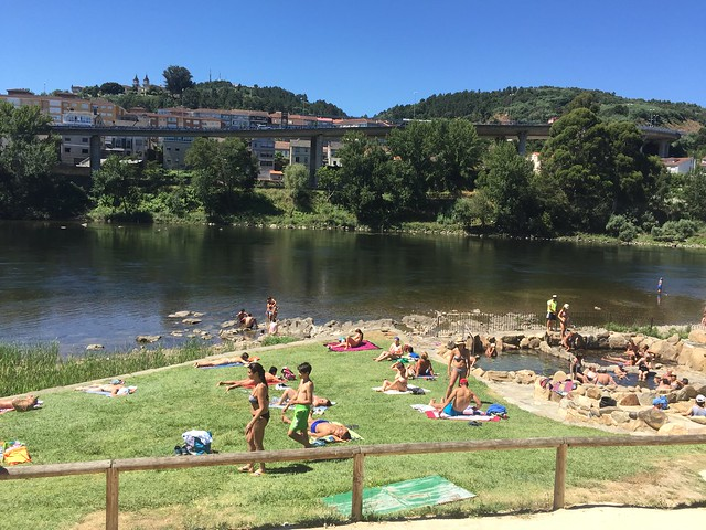 Parte pública de las termas de Chavasqueira (Ourense, Galicia)