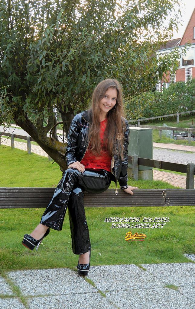 Ricci Tauscher In Vinyl Jacket And Pants Ricci Tauscher