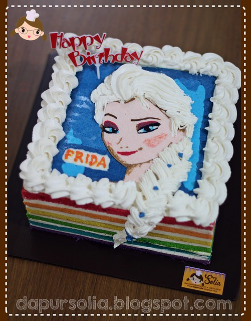 Rainbow Cake Frozen - Princess Elsa