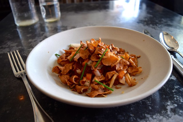 LEMONFISH POKE, BLACK RADISH ESCABECHE, CITRUS, CRISPY SUNCHOKE, Son of a Gun, West Hollywood