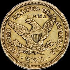 1854 Quarter Eagle Everman rev