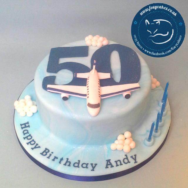 A 50th Birthday Cake For Plane Fanatic! #cake #thefoxycake