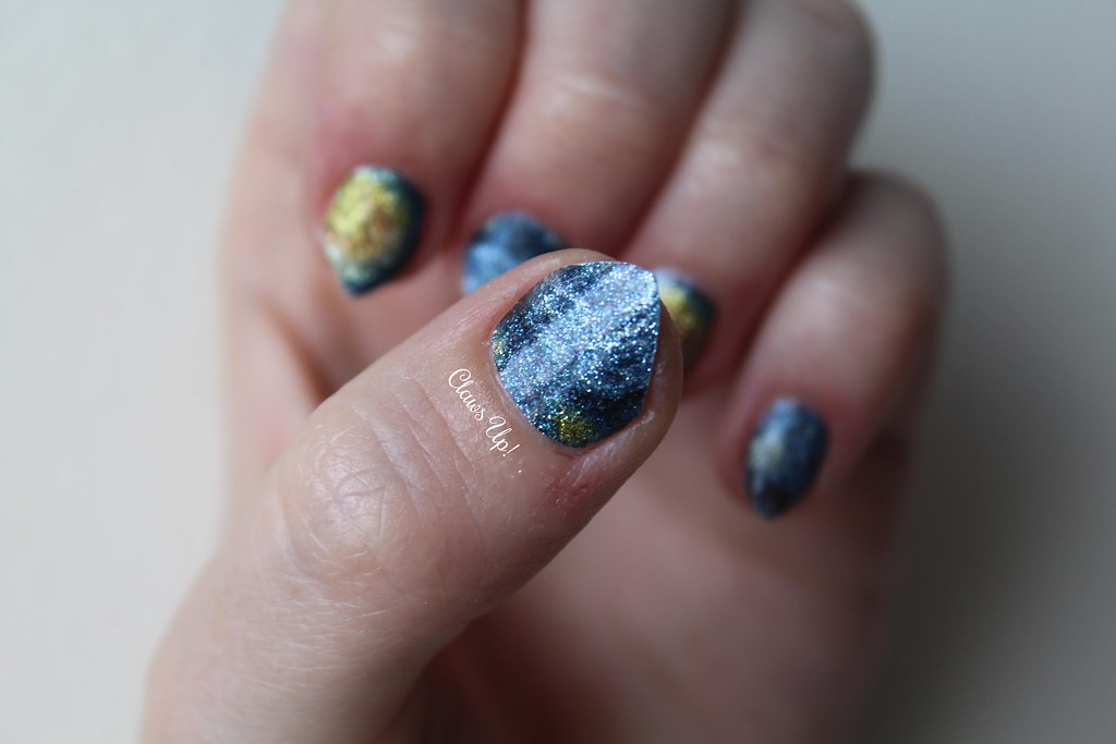 254Born Pretty Store Starry Night full nail art stickers. Coupon code JACG10