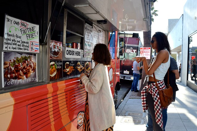 Ordering from the Steamy Bun Truck, Los Angeles