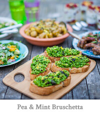 Pea & Mint Bruschetta