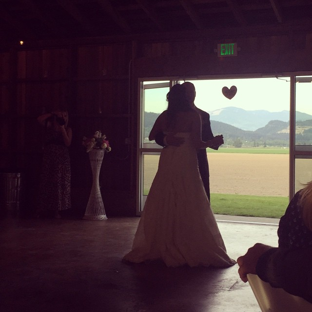 My favorite photo of the wedding: the first dance! #Lovelove