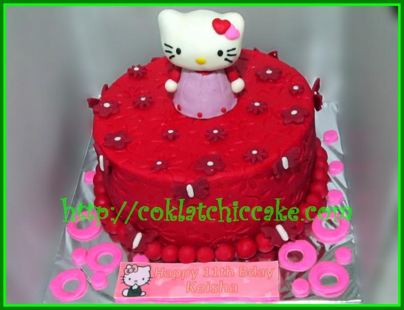 Cake Hello Kitty Keisha Coklatchic Cake