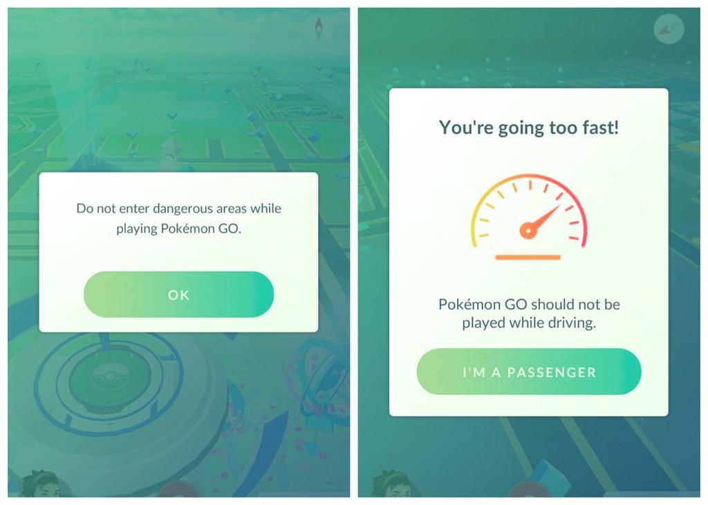 Pokémon GO nos desaconseja meternos en áreas peligrosas o conducir y jugar a Pokémon a la vez