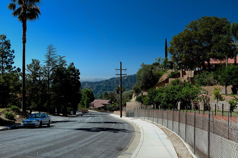 view down pine cone road