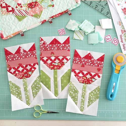 Image result for quilt block tulips