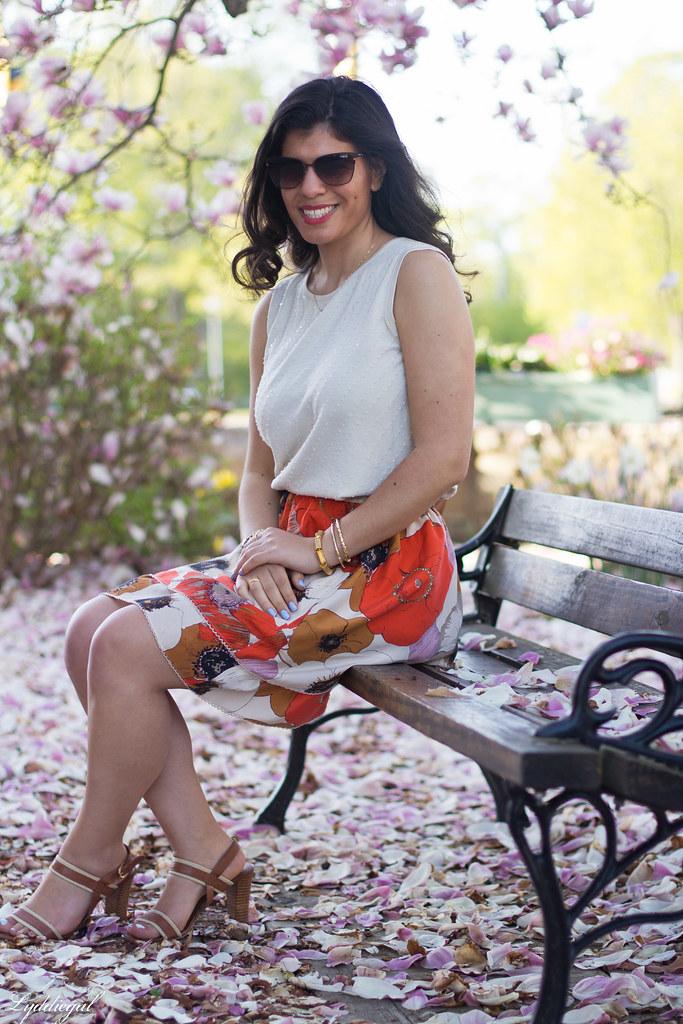 orange floral skirt, cream beaded top, leather tote-3.jpg