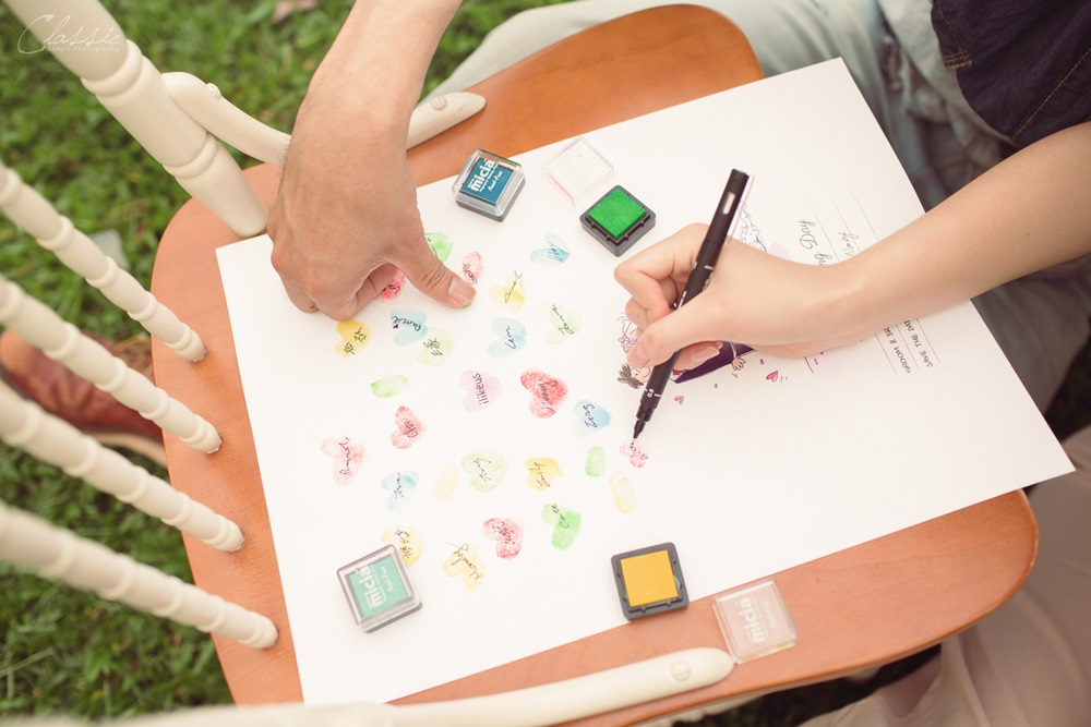 推薦愛婚享ilikeus婚禮小物婚禮佈置道具簽名樹指紋樹