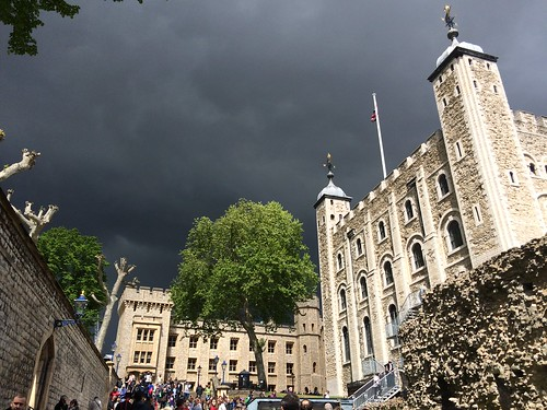 Storm clouds over Tower of London