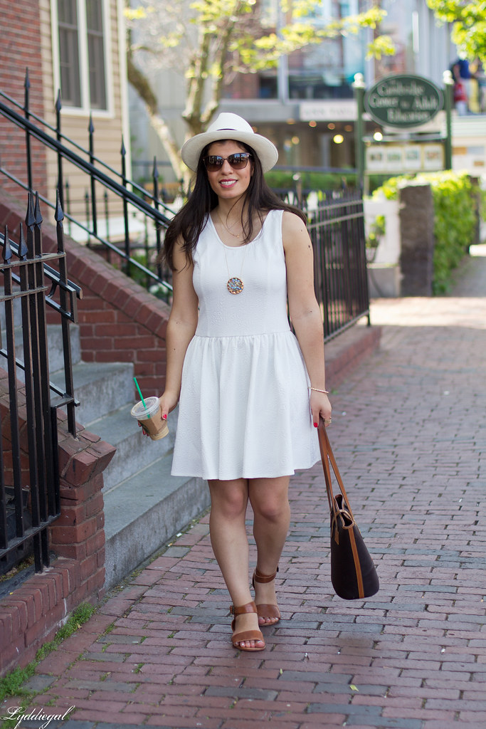 little white dress, panama hat, leather tote.jpg