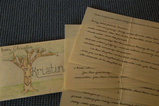 hand-written letter