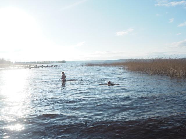 talviturkki1, talviturkki, uida, uiminen, kevät, kesä, summer, spring, vesi, kylmä, cold, eka kerta, first time, swimming, swimm, season, kausi, järvi, lake, heittää talviturkki, talviturkki, aurinko, sun, vesi, sininen,kaunis,,