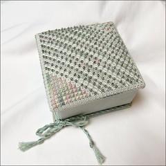 Crystal and Silk Trinket Box