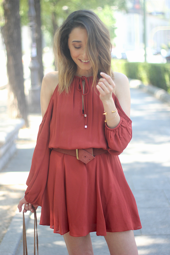 Boho Marsala Dress10