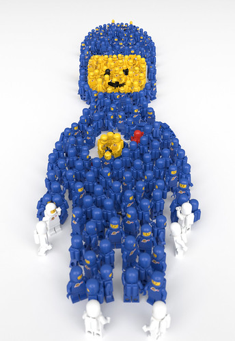 LEGO Spaceman made out of Spacemen by aido k