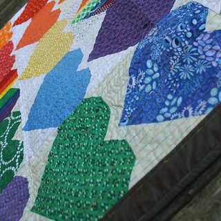 #quiltsforpulse #ohcraft made this quilt to donate to families and survivors of the Pulse Nightclub Shooting | by DanaK~WaterPenny