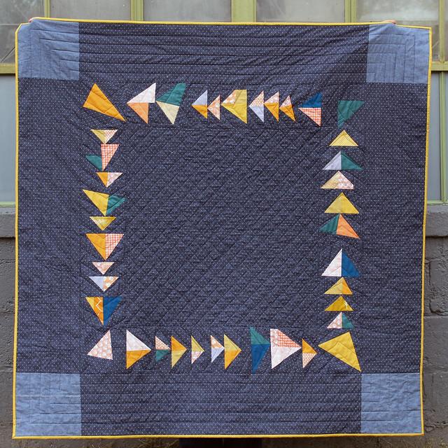umbrella prints trimmings quilt, square