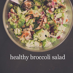 Amazing healthy broccoli salad using greek yogur