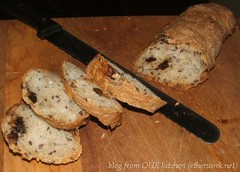 flaxseed prune ciabatta-like bread (BBB)