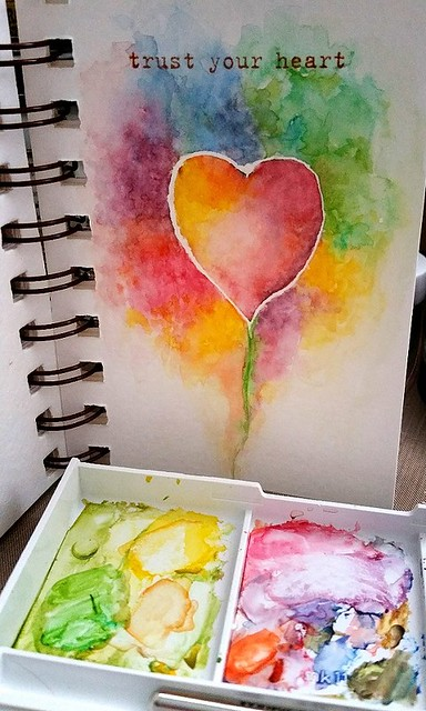 {Trust Your Heart} Watercolor