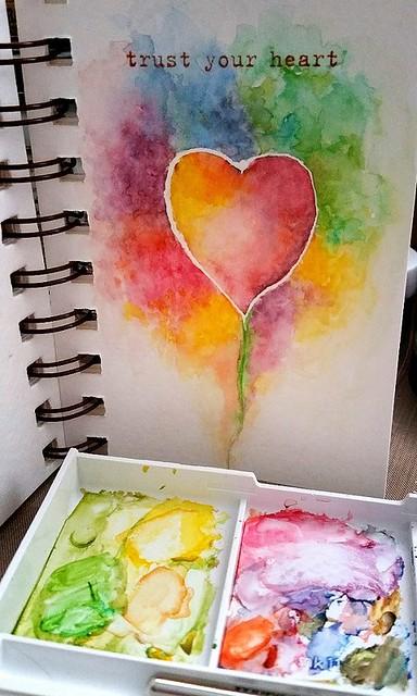 {Trust Your Heart} Watercolor